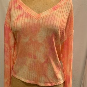 Victoria's Secret V-Neck tie dye sweater NWT
